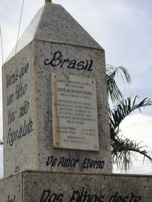 O marco do início do Brasil.
